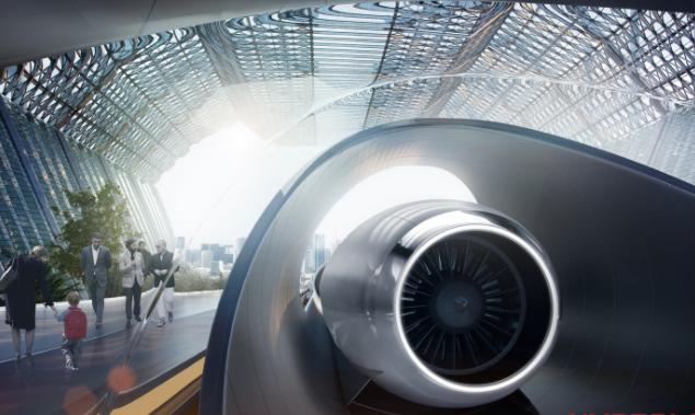 Beyond rail: proposed hyperloop station