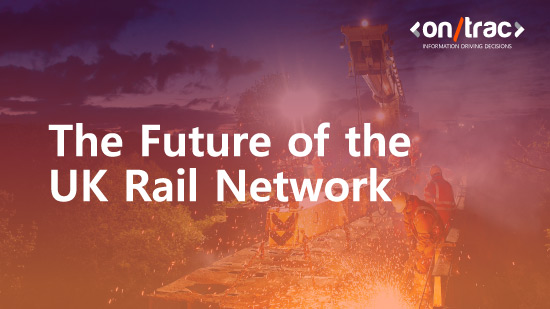 Future of the UK rail network - an image of railway workers working on UK rail tracks