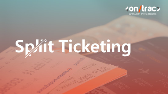 Image of paper train tickets with an overlay of the word 'split ticketing'
