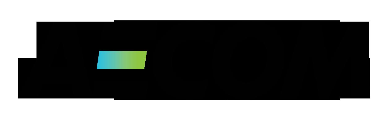 Aecom logo in white